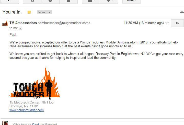 Tough Mudder COmmunity Ruse