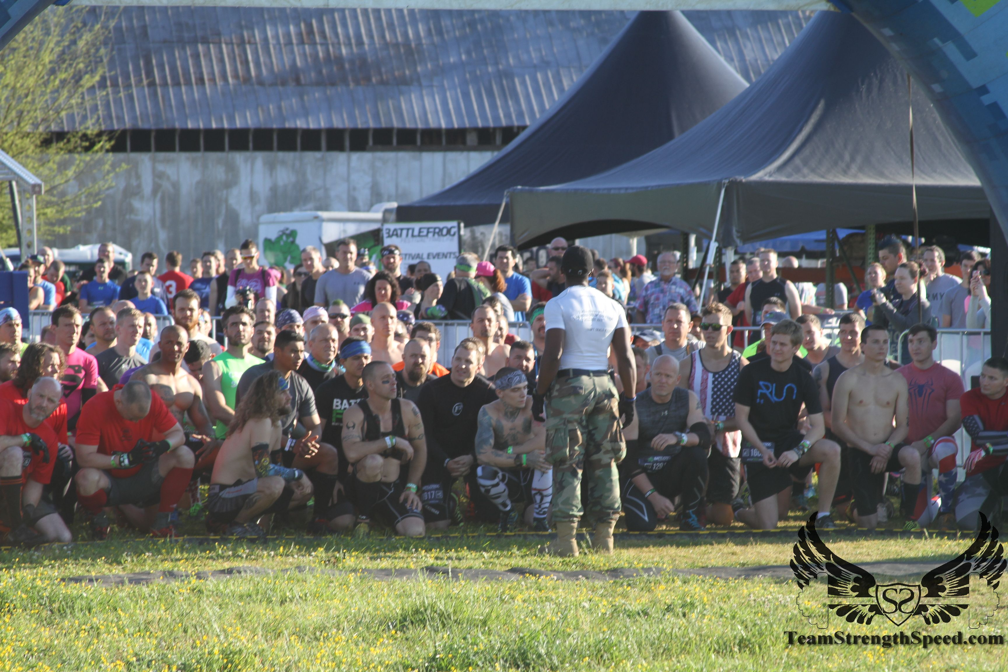 Coach Pain Dewayne giving one of his signature motivational speeches before the start of BFX.