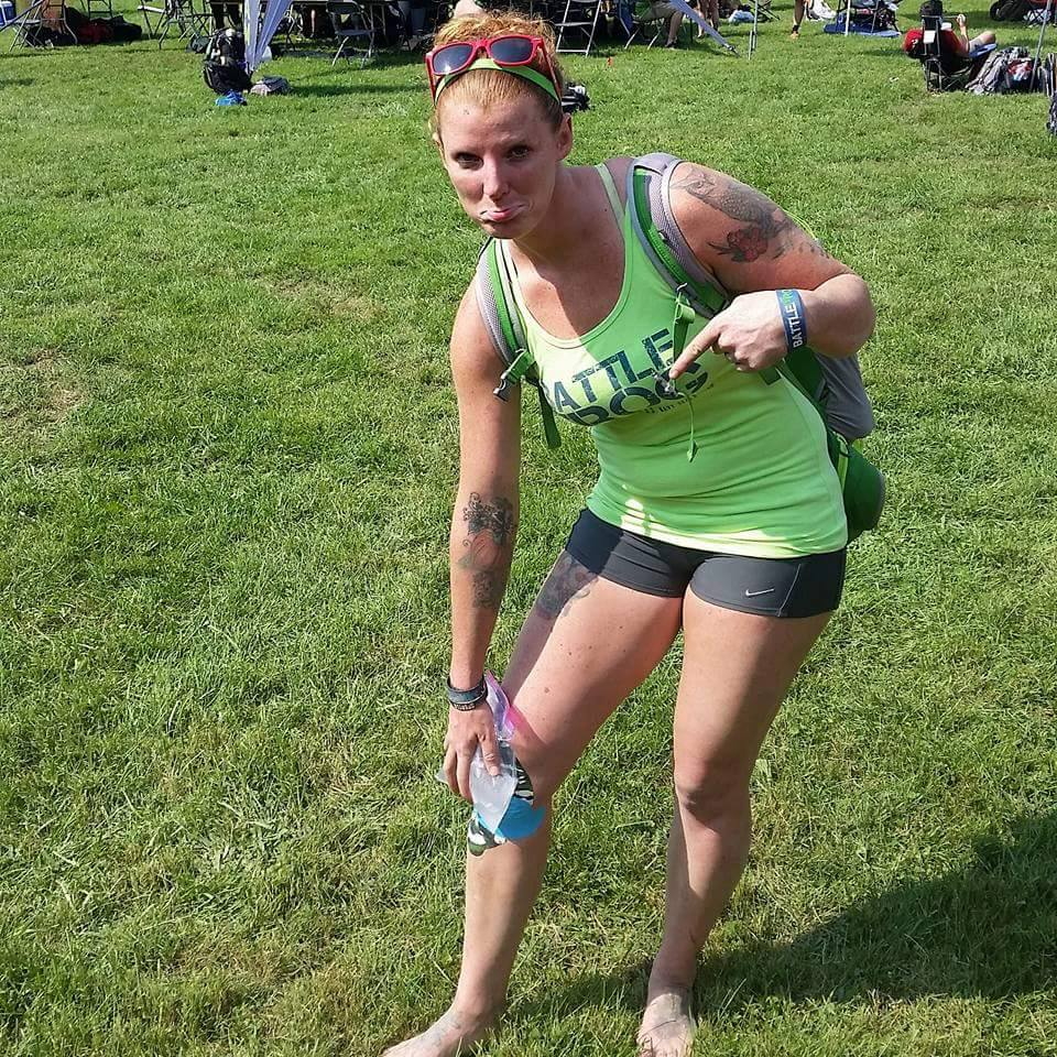 Brenna Calvert injured after BattleFrog Cincinnati.